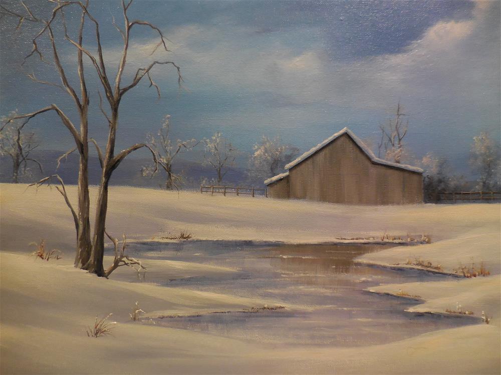 """""""Cold Winter"""" original fine art by Terri Nicholson"""