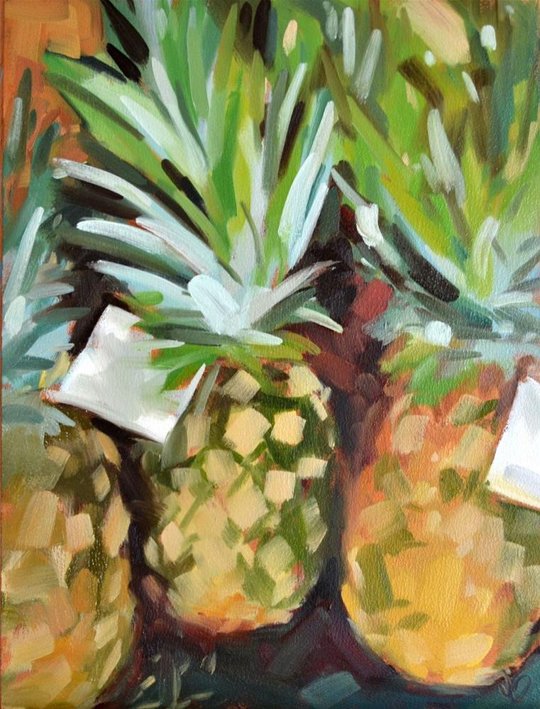 """Pineapples"" original fine art by Jessica Green"