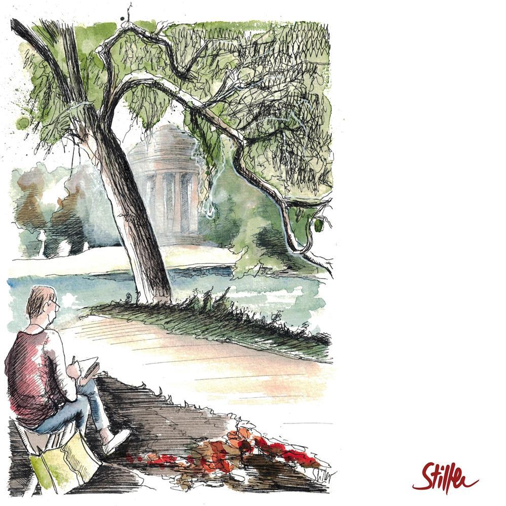 """""""3686 Georgen Garden"""" original fine art by Dietmar Stiller"""