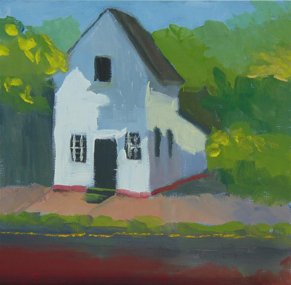 """Little White House"" original fine art by Catherine Kauffman"