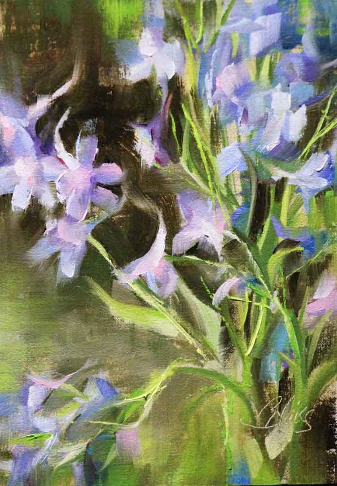"""Larkspur"" original fine art by Pamela Blaies"