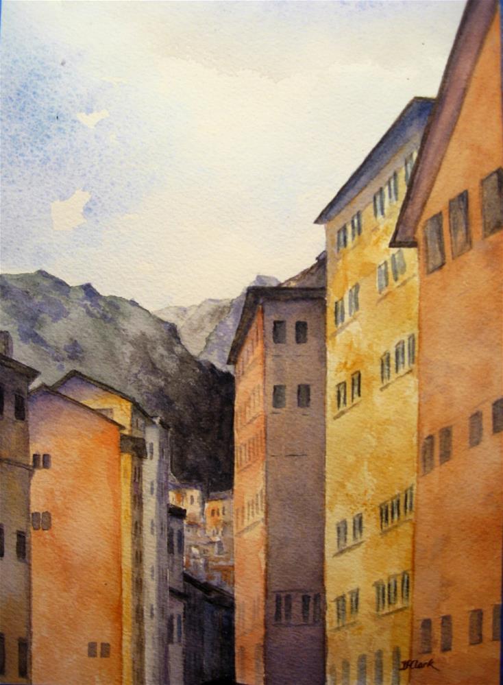 """February in Camogli, Italy"" original fine art by Judith Freeman Clark"