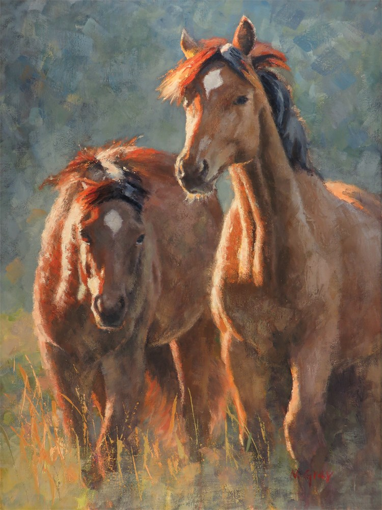 """""""Greeters of the Meadow"""" original fine art by Naomi Gray"""