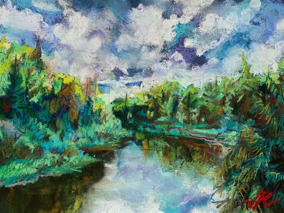 """Round Pond Brook, NY"" original fine art by Jean Krueger"