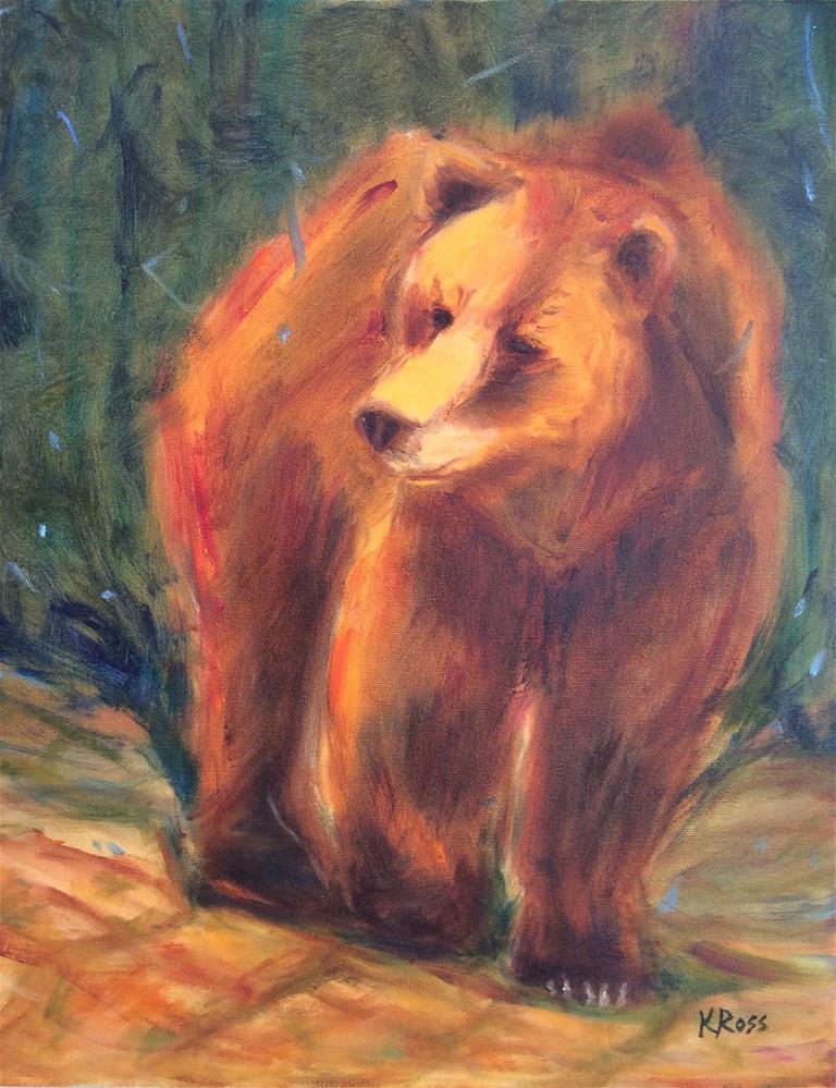 """Brown bear"" original fine art by Kathryn Ross"