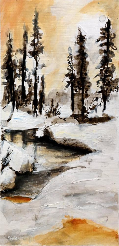 """2675 Winterscape 3"" original fine art by Dietmar Stiller"