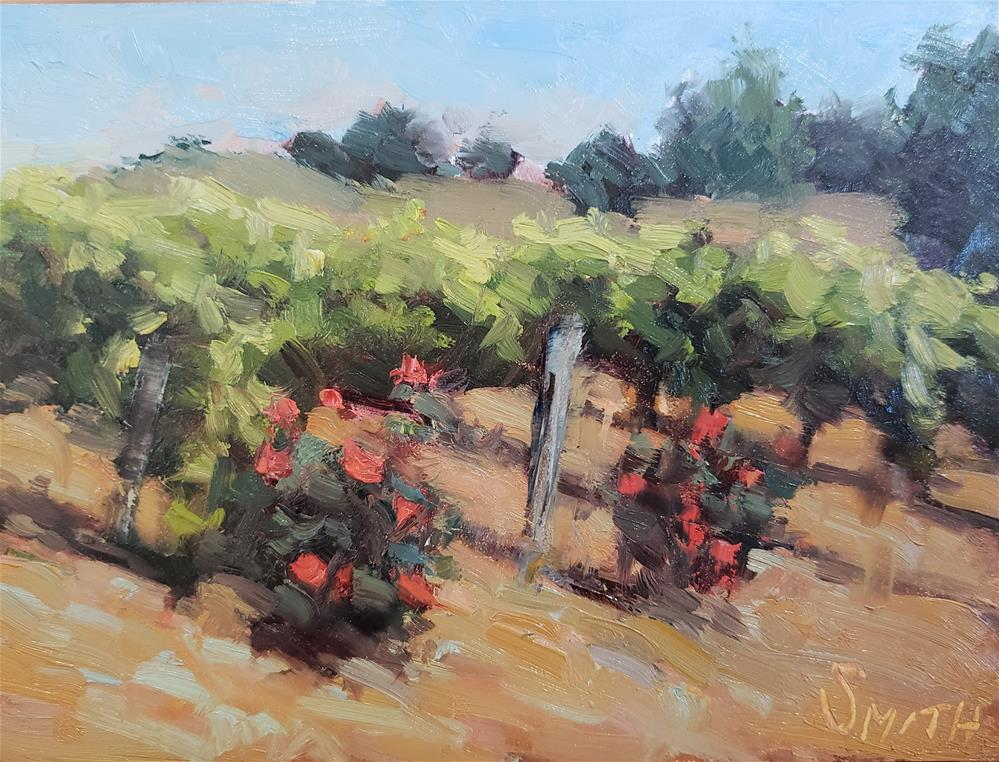 """Vines and Roses "" original fine art by Barbie Smith"