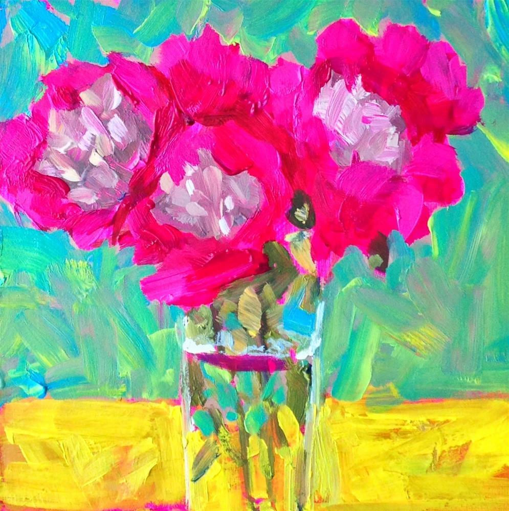 """Happy, 6x6 Inch Acrylic Painting by Kelley MacDonald"" original fine art by Kelley MacDonald"