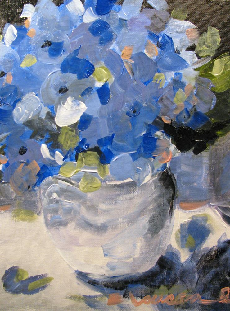 """""""Rhapsody in Blue"""" original fine art by Susan Elizabeth Jones"""