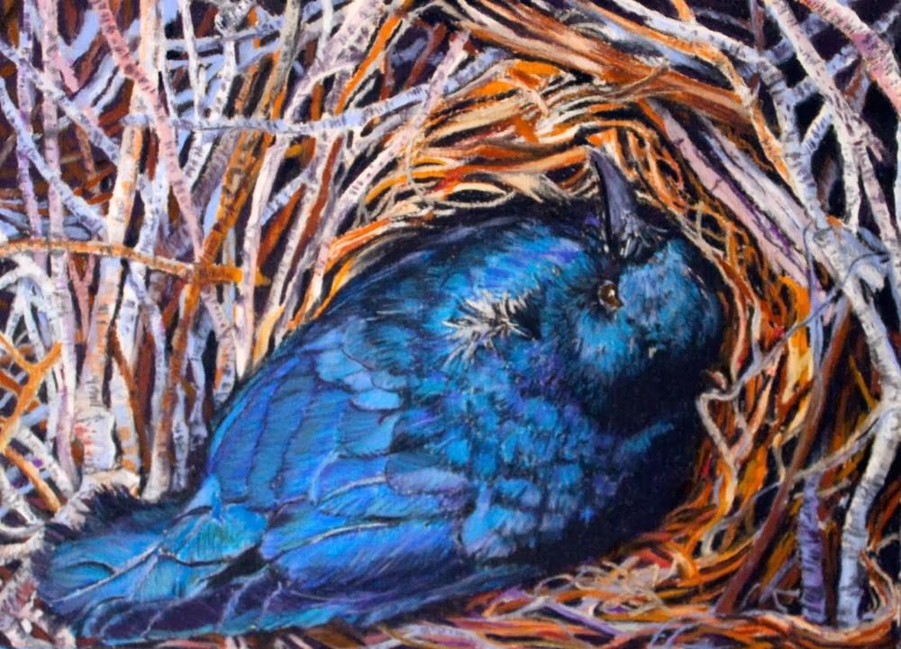 """""""A Bird's Eye View"""" original fine art by Jill Bates"""
