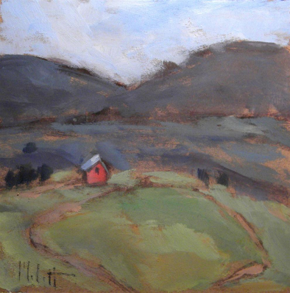 """West Virginia Mountains Landscape Daily Oil Painting"" original fine art by Heidi Malott"