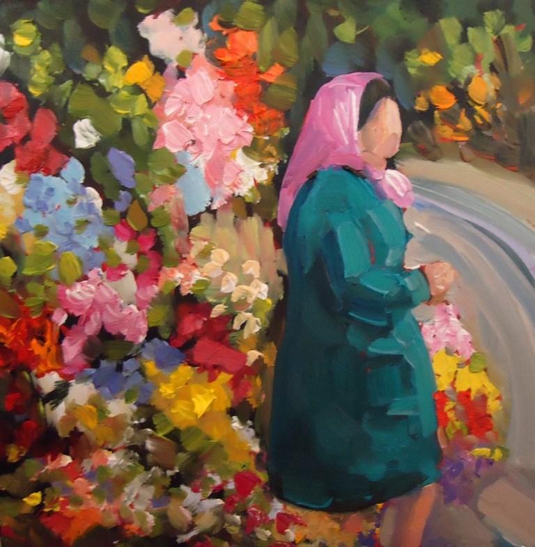 """""""Untitled"""" original fine art by Dee Sanchez"""