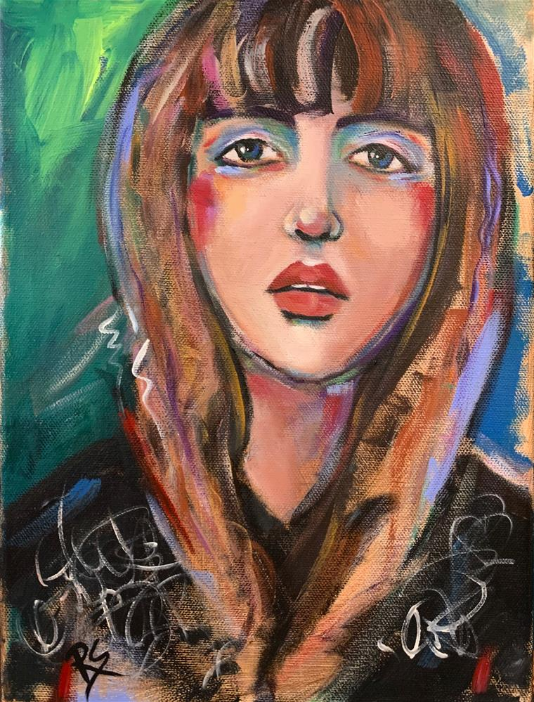 """""""Finding My Voice"""" original fine art by Roberta Schmidt ArtcyLucy"""
