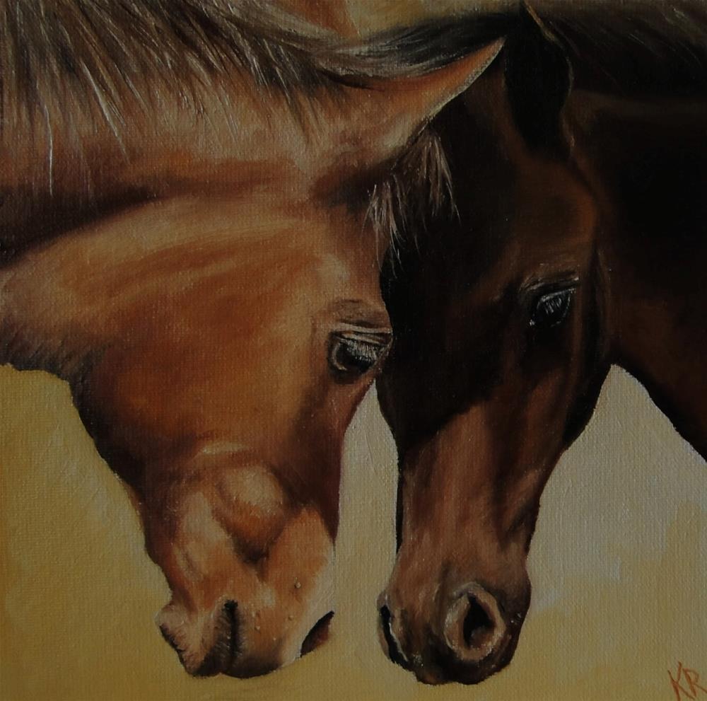 """Head-to-head"" original fine art by Karen Robinson"