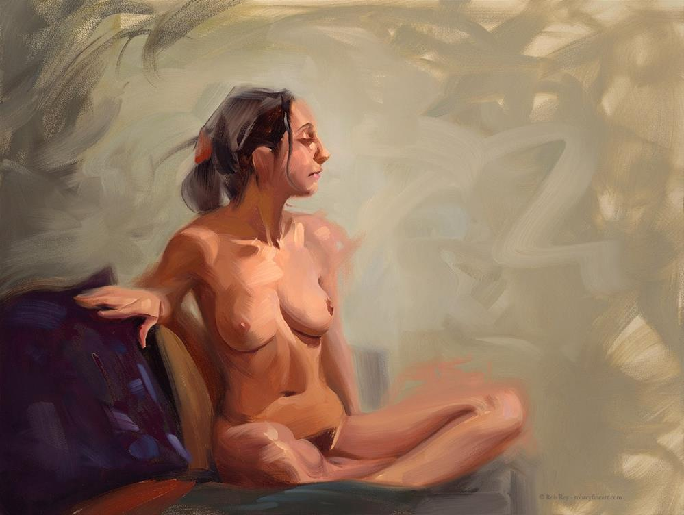 """Seated"" original fine art by Rob  Rey"