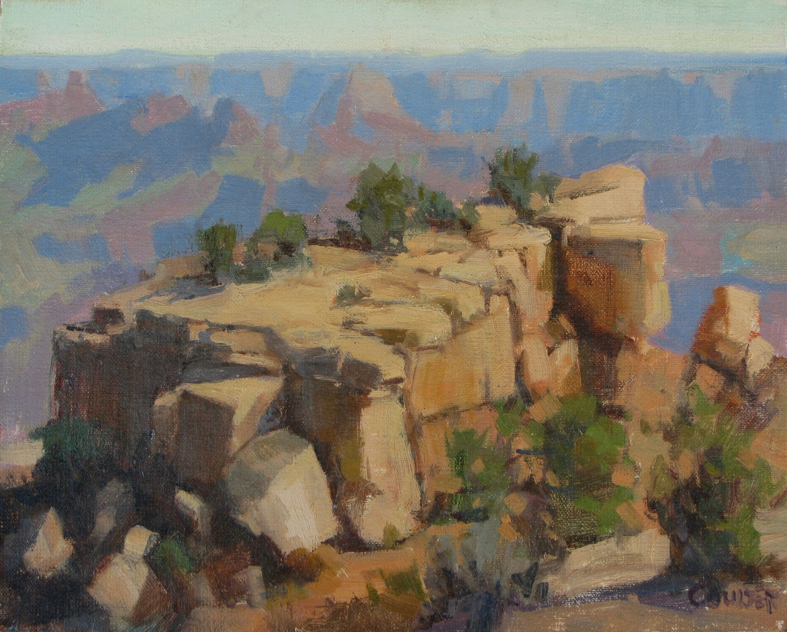 """MORAN POINT"" original fine art by James Coulter"