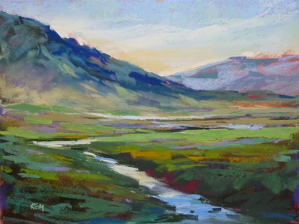 """Simplifying a Green Landscape"" original fine art by Karen Margulis"