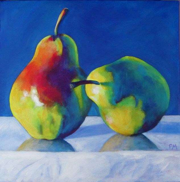 """New Year Pears"" original fine art by Patricia MacDonald"