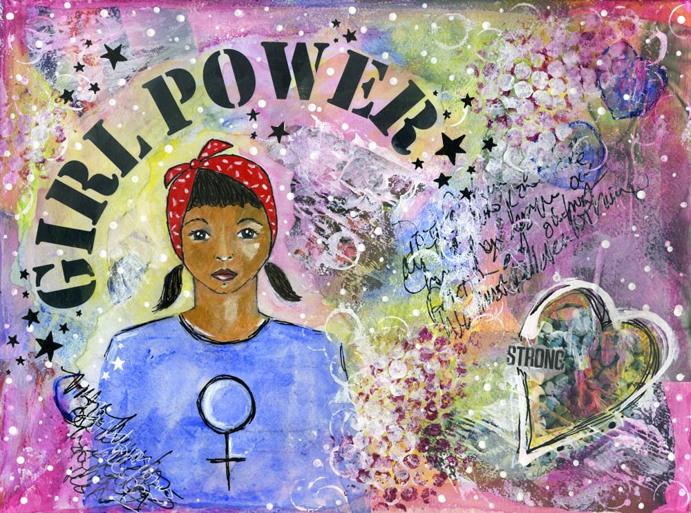 """Girl Power"" original fine art by Kali Parsons"