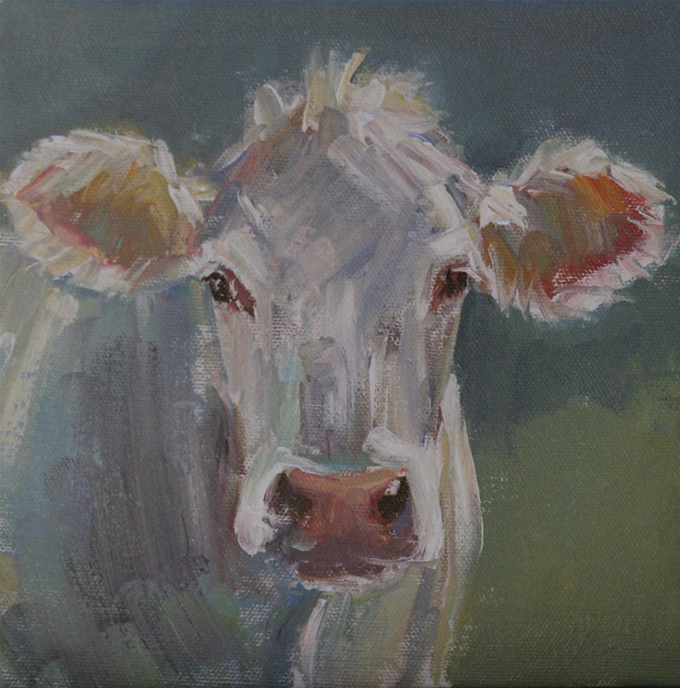 """""""mad cow"""" original fine art by Carol Carmichael"""