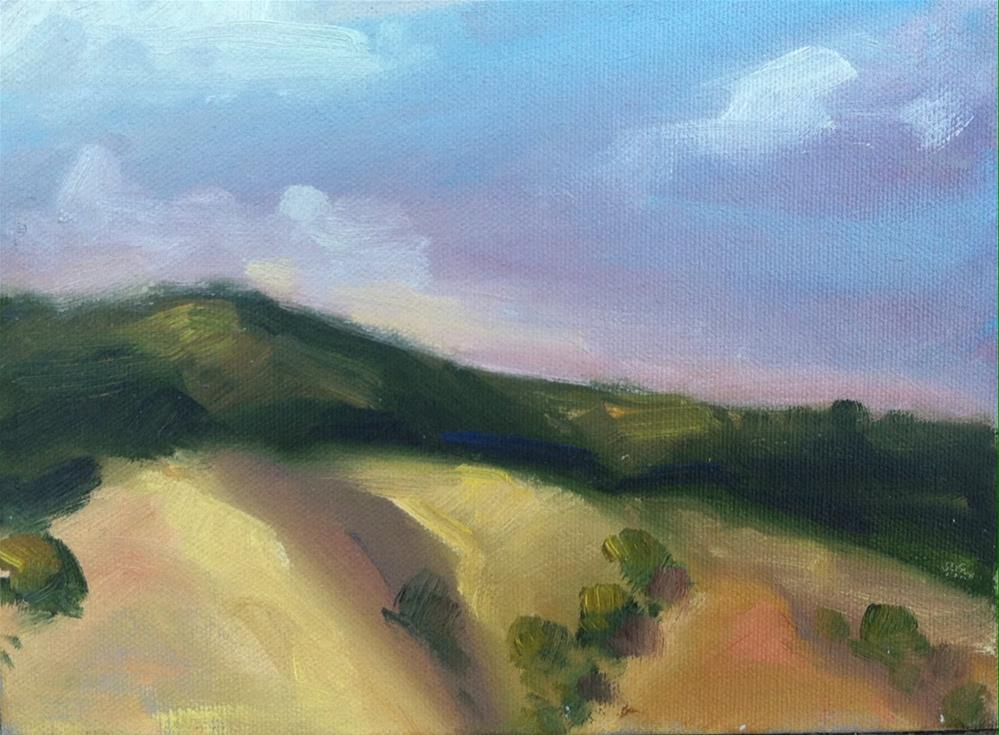 """""""Clear Lake Hilltops, Late Afternoon"""" original fine art by Mary Mulvihill"""