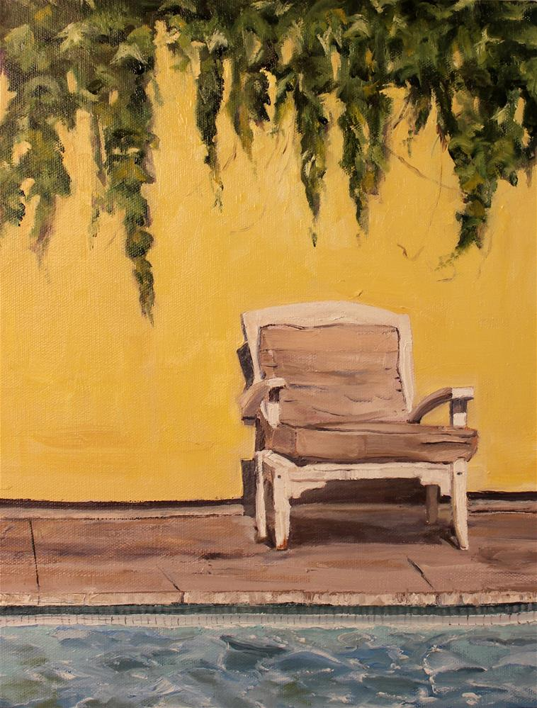"""Chair in Healdsburg"" original fine art by Tamsen Armstrong"