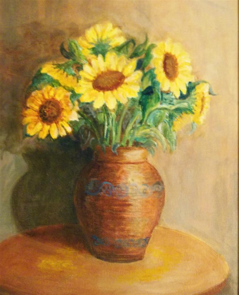 """Sunflowers"" original fine art by Pratima Patel"