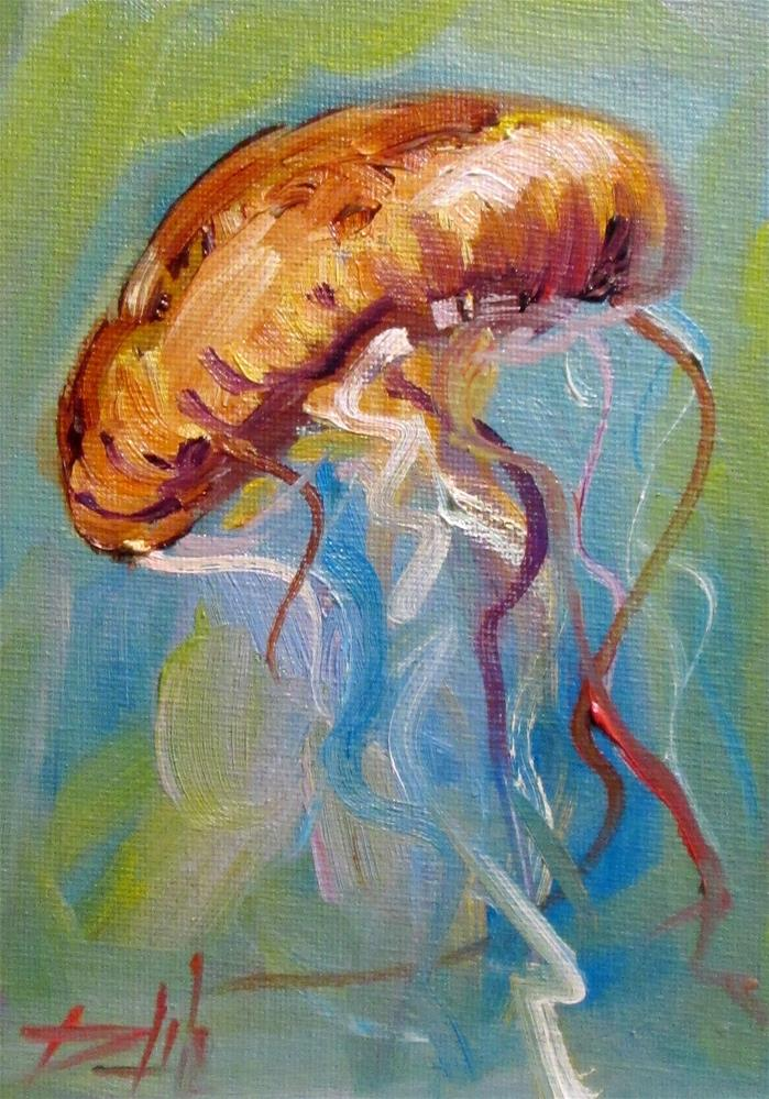 """Jelly Fish No. 7"" original fine art by Delilah Smith"