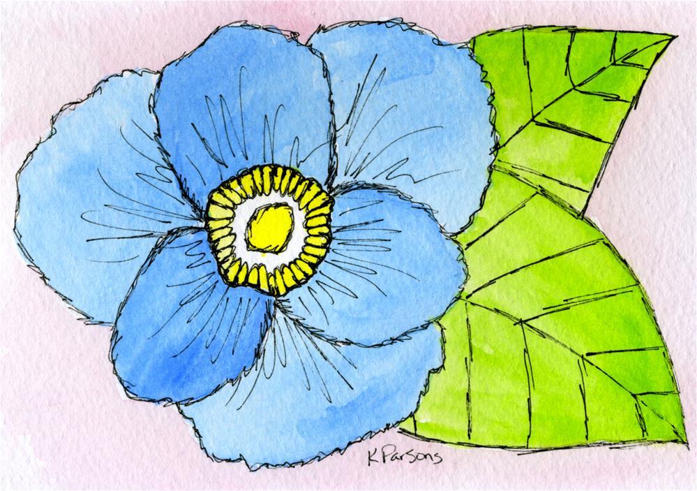 """""""Blue..."""" original fine art by Kali Parsons"""