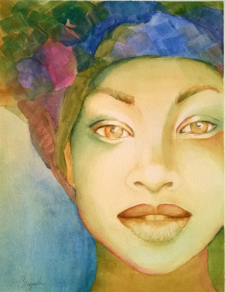 """Woman is Gold"" original fine art by Crisynda Buss"