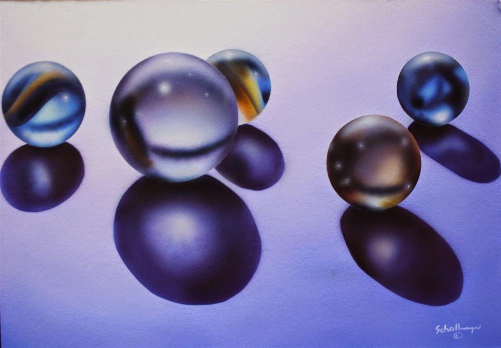 """""""Marbles # 22"""" original fine art by Fred Schollmeyer"""