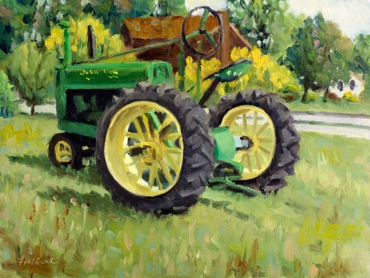 """Nothing Runs like a Deere"" original fine art by Daniel Fishback"