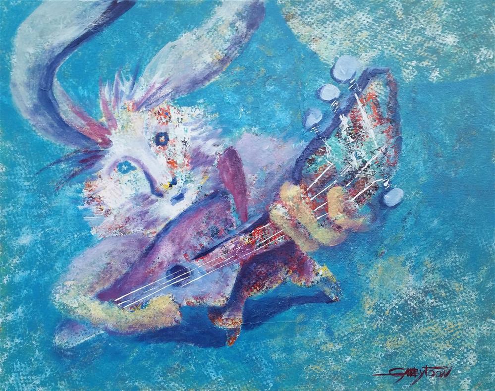 """Rock Star"" original fine art by Gabriella DeLamater"