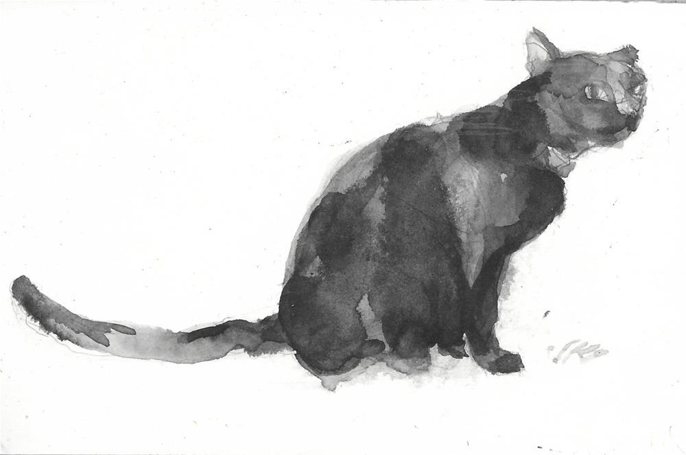 """Daily Cat 190"" original fine art by Jean Krueger"