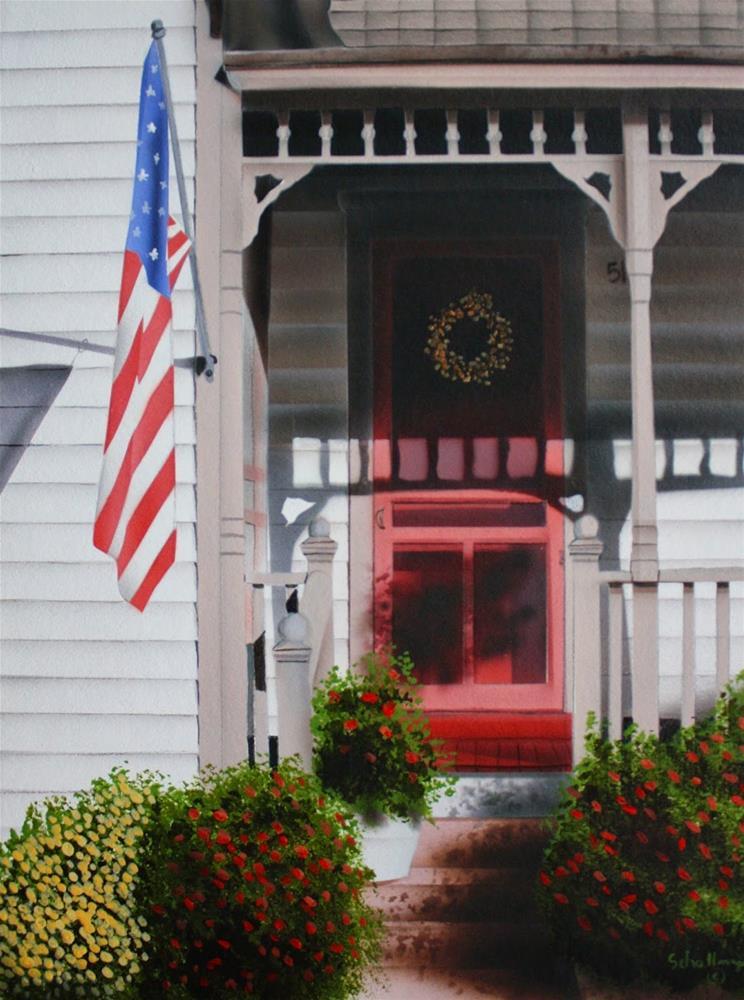 """""""Annie's Porch"""" original fine art by Fred Schollmeyer"""