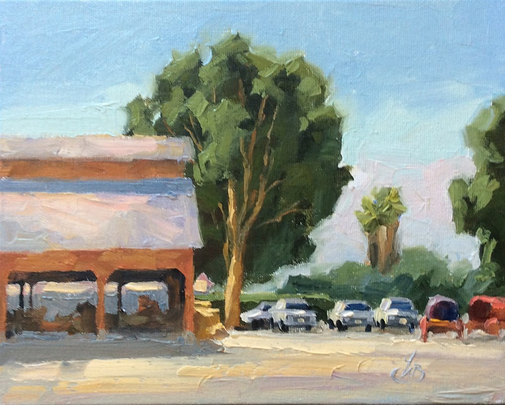 """HISTORIC BARN IN IRVINE AGRICULTURAL CENTER"" original fine art by Tom Brown"