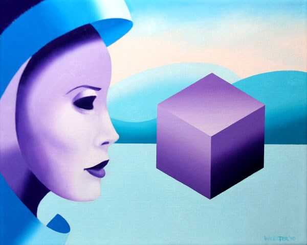 """""""Mark Webster - Mask Cubed - Abstract Oil and Acrylic (Mixed Media) Painting"""" original fine art by Mark Webster"""