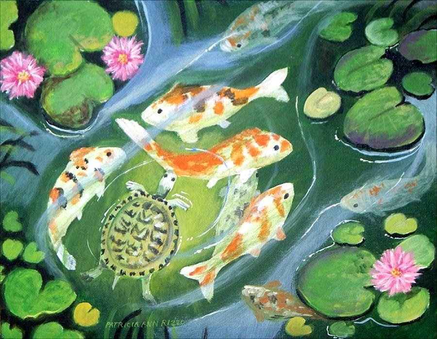 """""""The Koi Pond"""" original fine art by Patricia Ann Rizzo"""