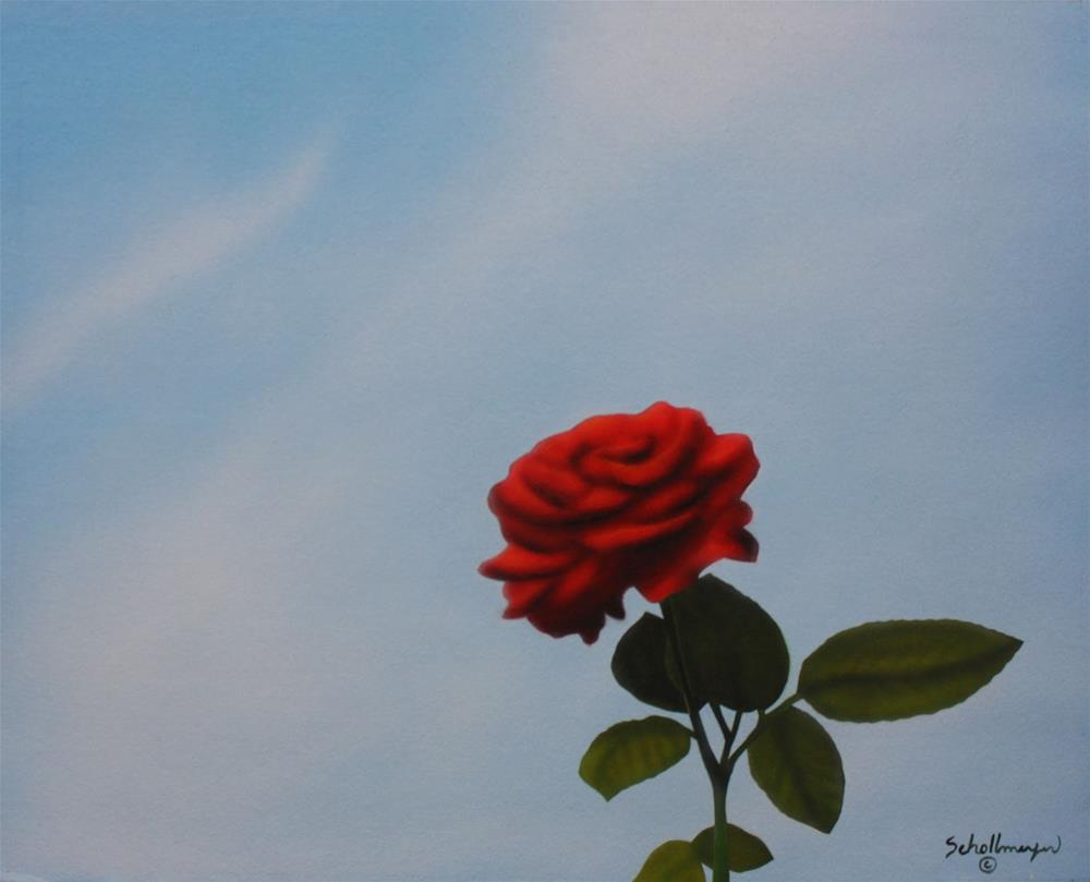 """Rose & Sky"" original fine art by Fred Schollmeyer"