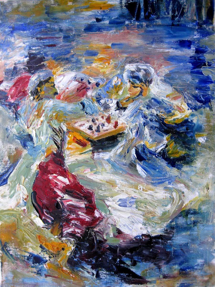 """Homage to J.S.Sargent"" original fine art by Julia Lu"