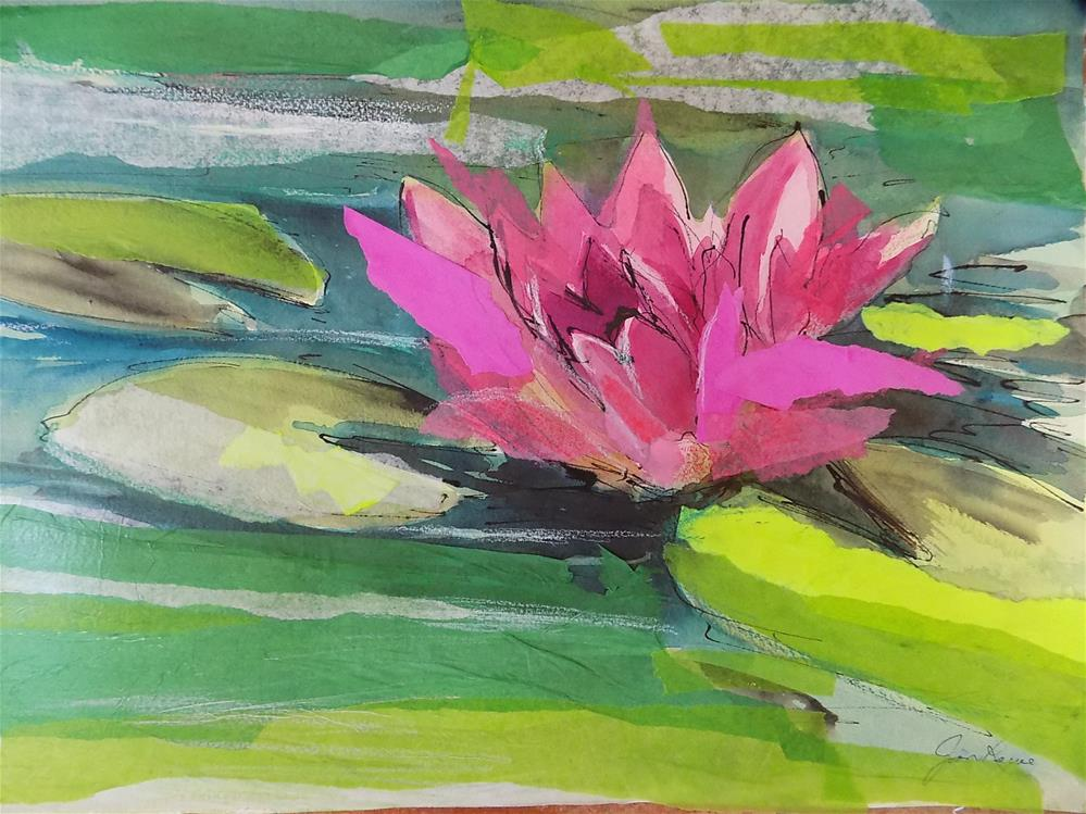 """""""Water Lily"""" original fine art by Joan Reive"""