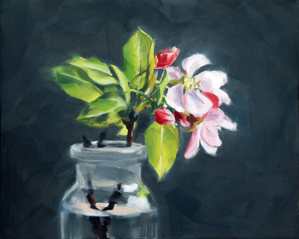 """""""Apple Blossoms"""" original fine art by Deb Anderson"""