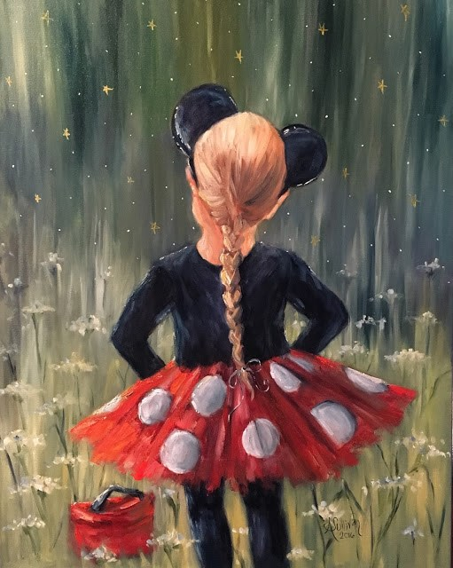 """Make Believe figurative painting by Alabama Artist Angela Sullivan"" original fine art by Angela Sullivan"