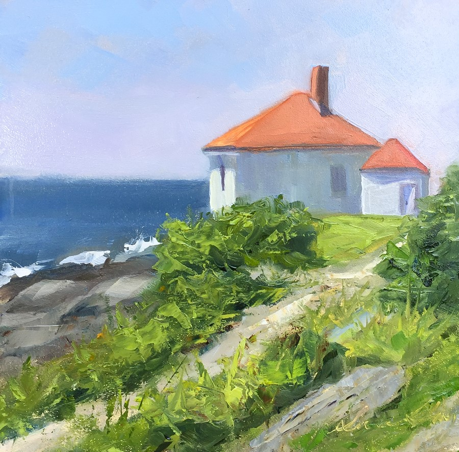 """#147 - Dyer Point - Cape Elizabeth, ME"" original fine art by Sara Gray"