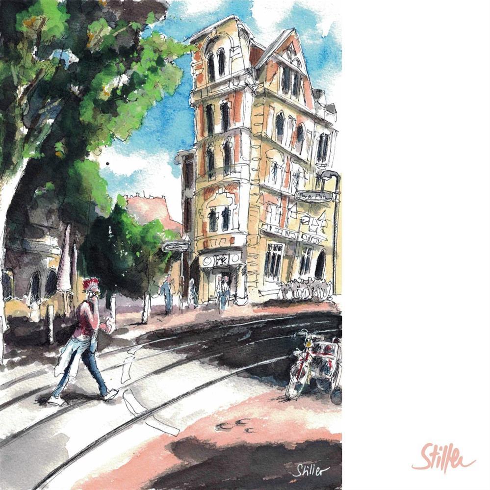 """3257 Place du Paris"" original fine art by Dietmar Stiller"