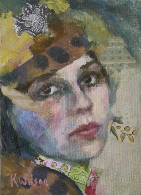 """""""Blue Cheek"""" original fine art by Katie Wilson"""