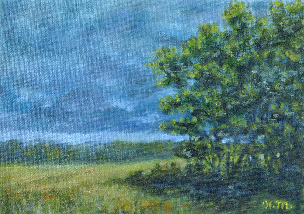 """""""Spring Storm - Spring Leaves"""" original fine art by Kathleen McDermott"""