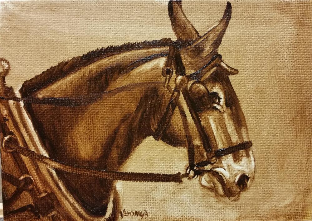 """Long Ears"" original fine art by Veronica Brown"
