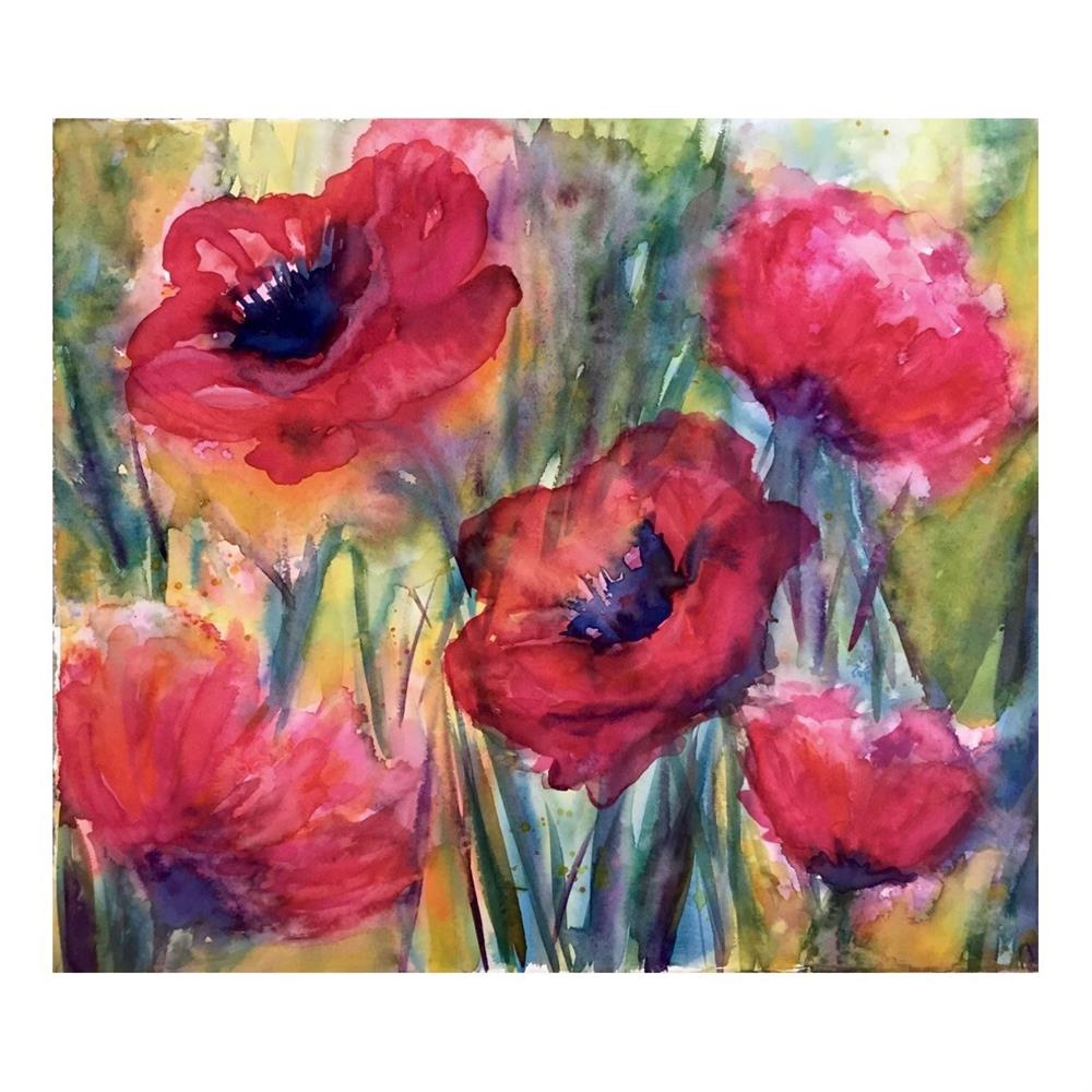 """Poppy Time"" original fine art by Melissa Gresham"