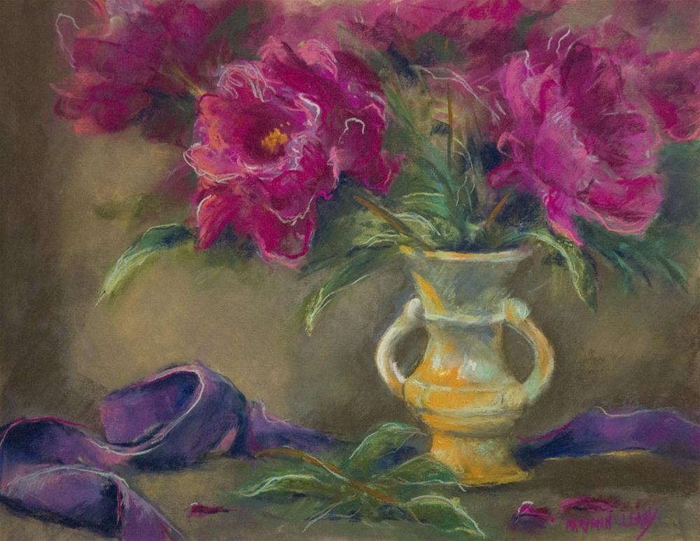 """Peonies in a Vase"" original fine art by Maryann Cleary"